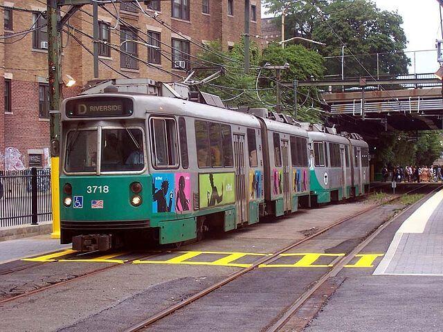 ボストン地下鉄グリーンライン電車車体