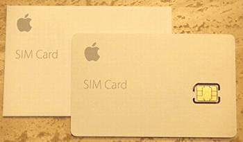 Apple SIMの見本写真
