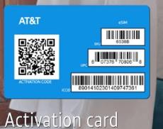 AT&TのeSIMに読み込ませるコードが書いてあるカード