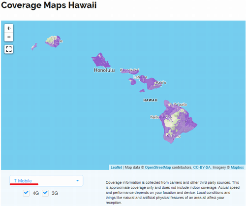 Coverage Maps Hawaii Tmobile