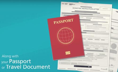 バイオメトリクス予約確認書とパスポート