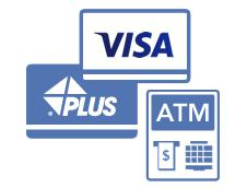 VISA/PLUS のマーク