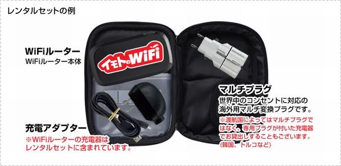イモトの WiFi レンタルセット