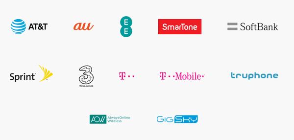 Apple SIMと提携している通信会社(パートナー)