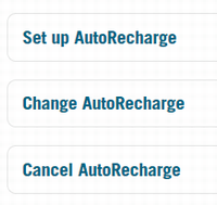 「Automatic Recharge」と表示された画面