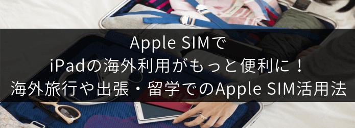 海外旅行や出張・留学でのApple SIM活用法